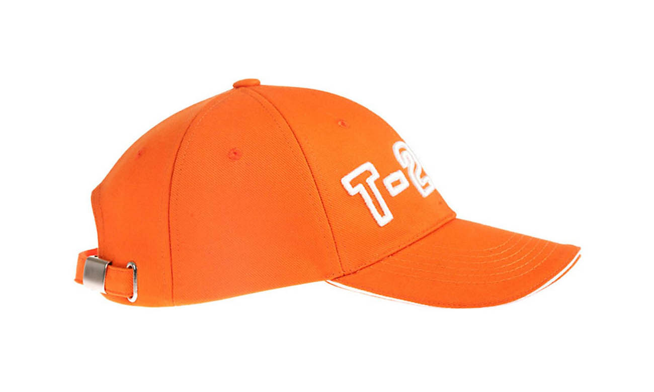 Baseballcaps T-200 Orange Seitlich Links