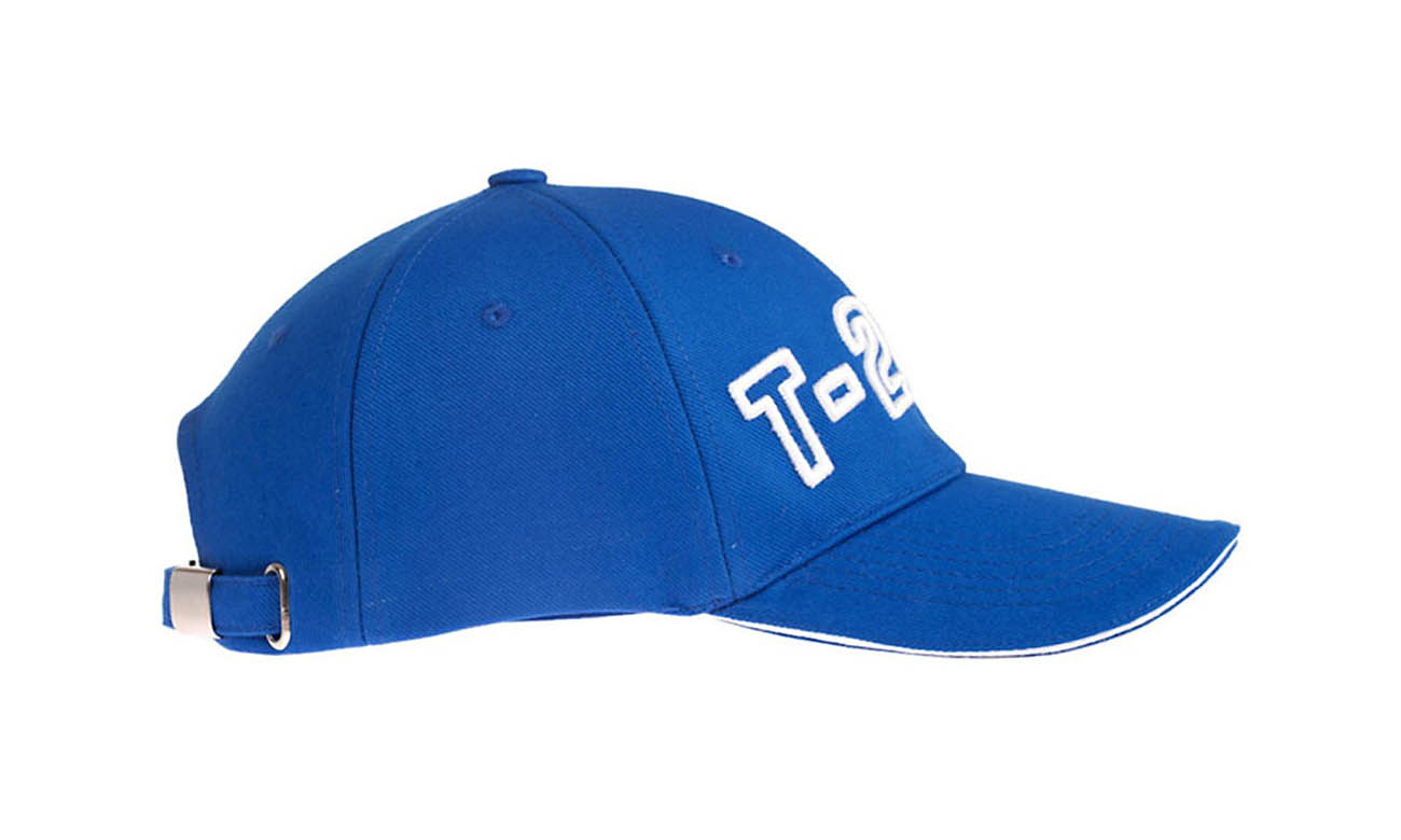 Baseballcaps T-200 Royalblau Seitlich Links