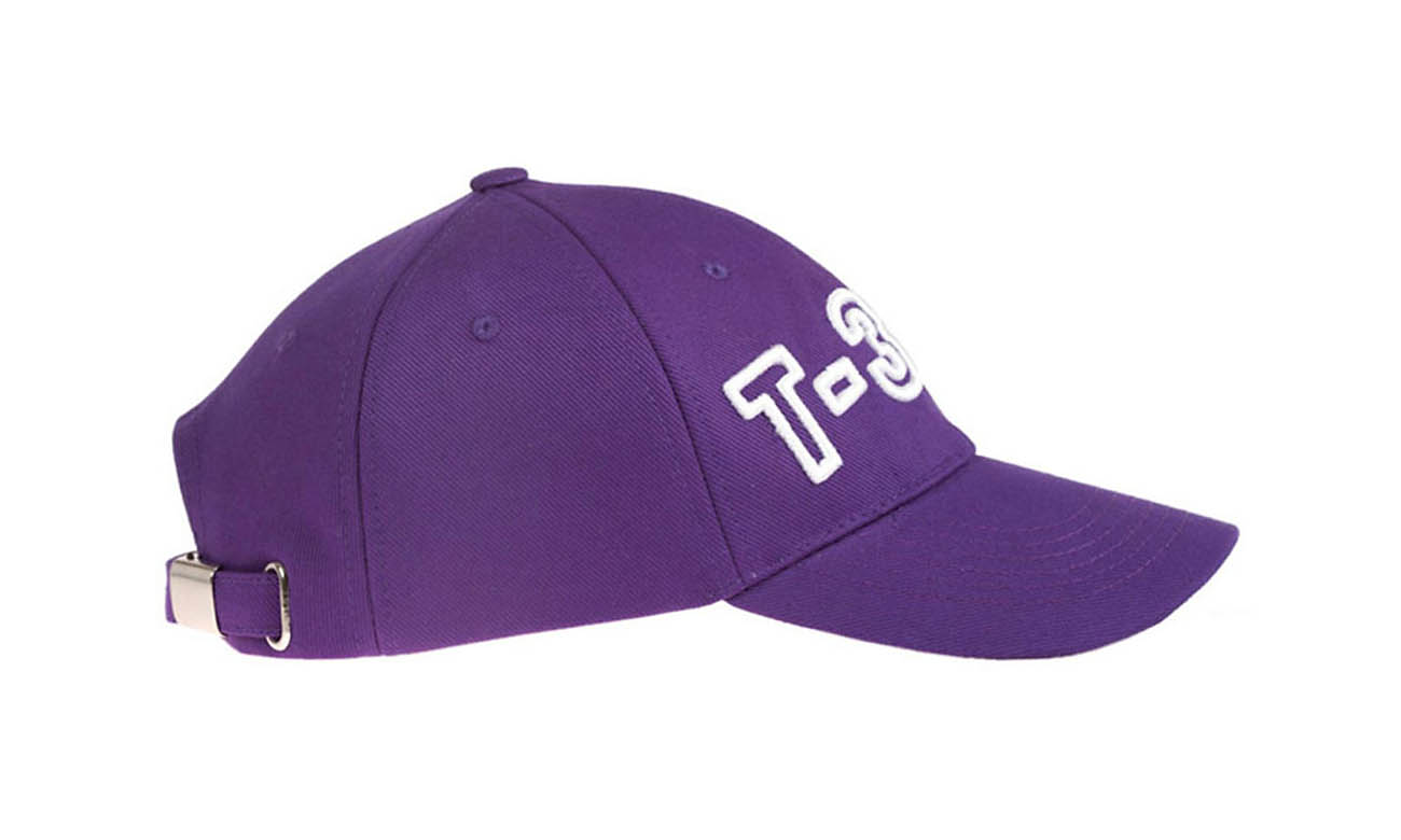 Basecaps T-300 Lila Seitlich Links