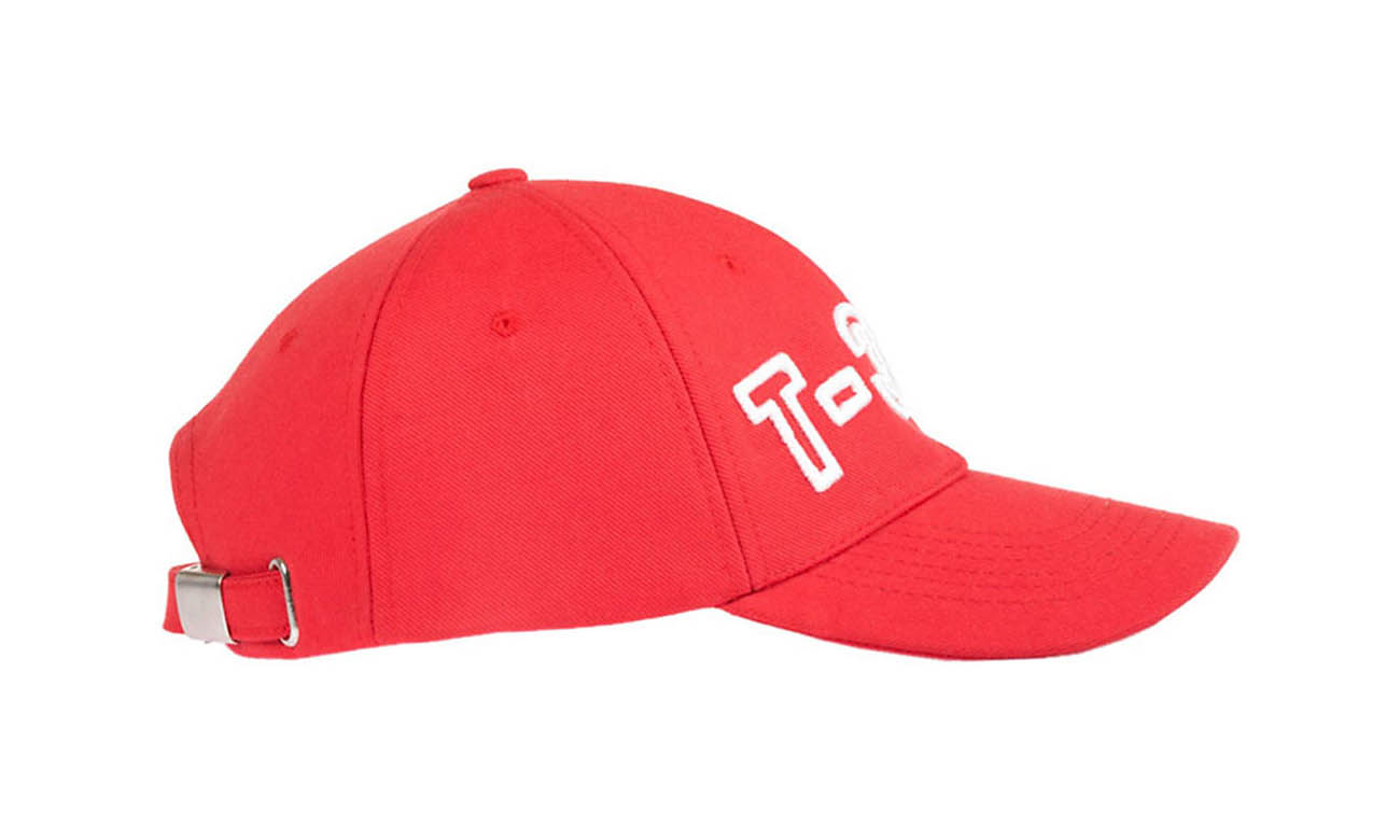 Basecaps T-300 Rot Seitlich Links