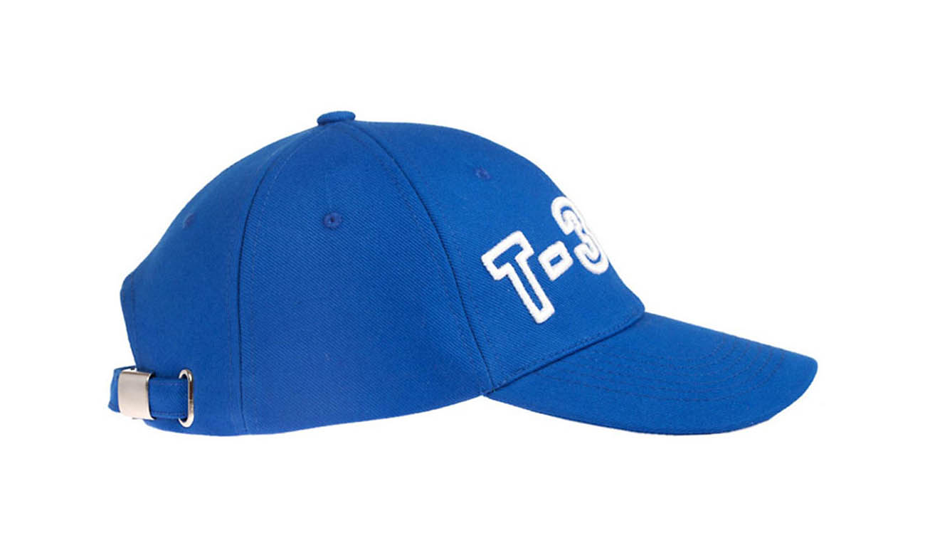 Basecaps T-300 Royalblau Seitlich Links