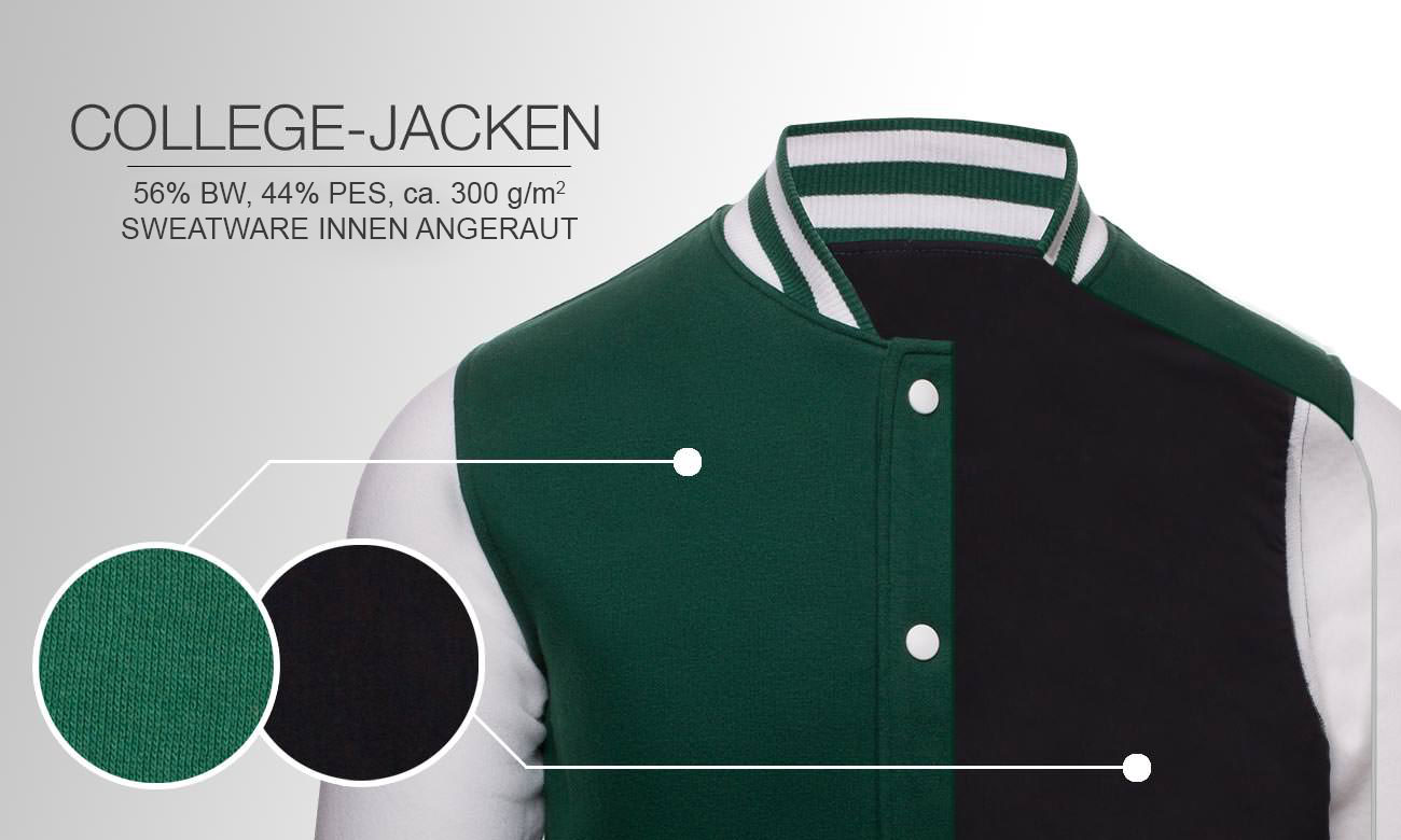 College Jacken bedrucken & besticken mit ihrem