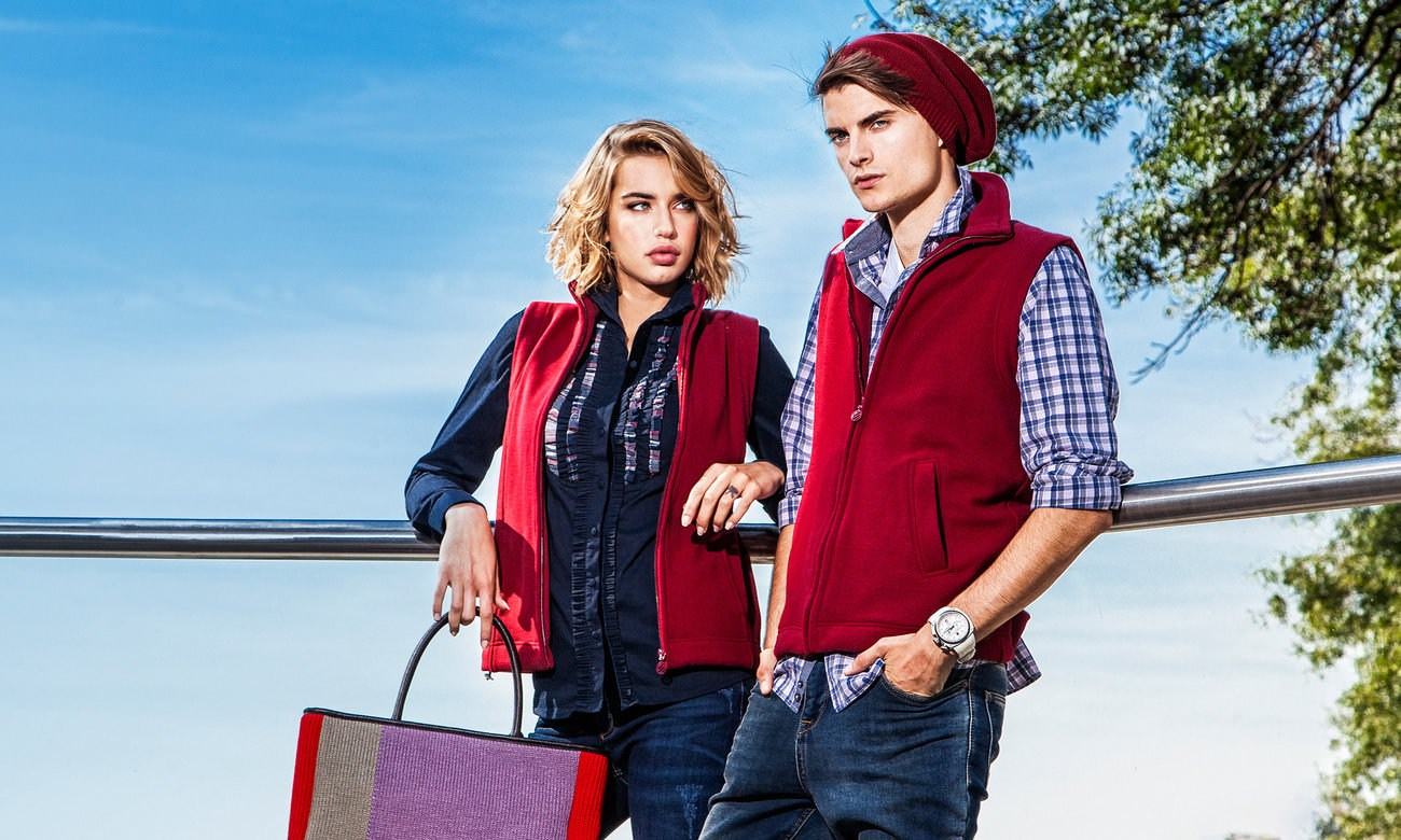 Fleece-Westen ST-405 Bordeaux Fashion