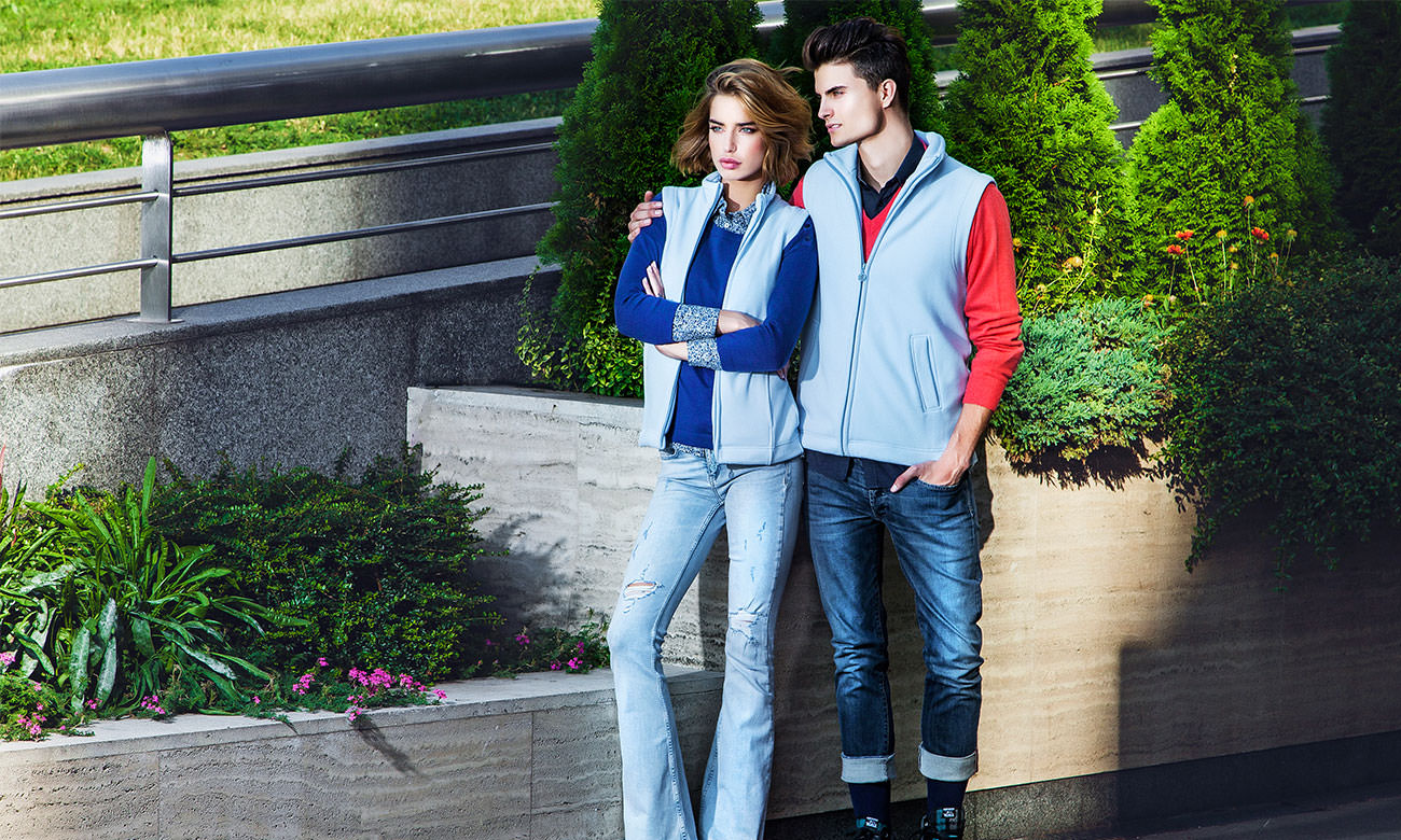 Fleece-Westen ST-405 Hellblau Fashion