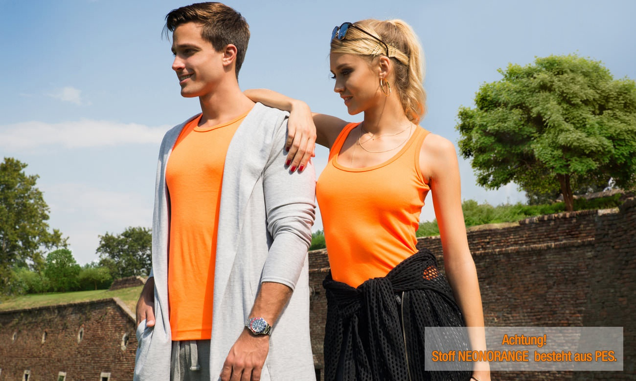 Herrentops ST-125 Neon Orange Fashion