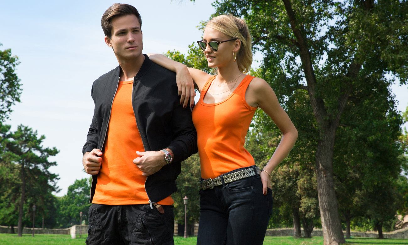 Herrentops ST-125 Orange Fashion