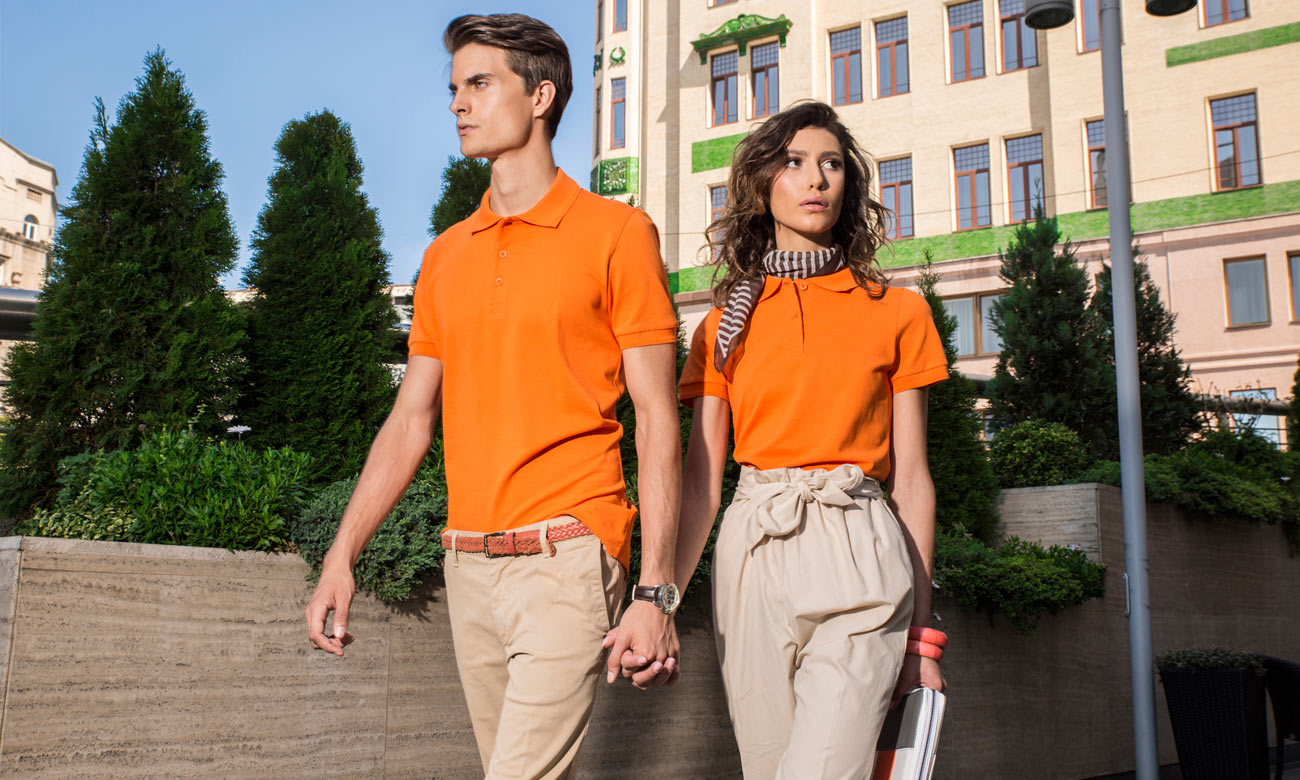Poloshirts Standard Kurzarm ST-200 Orange Fashion