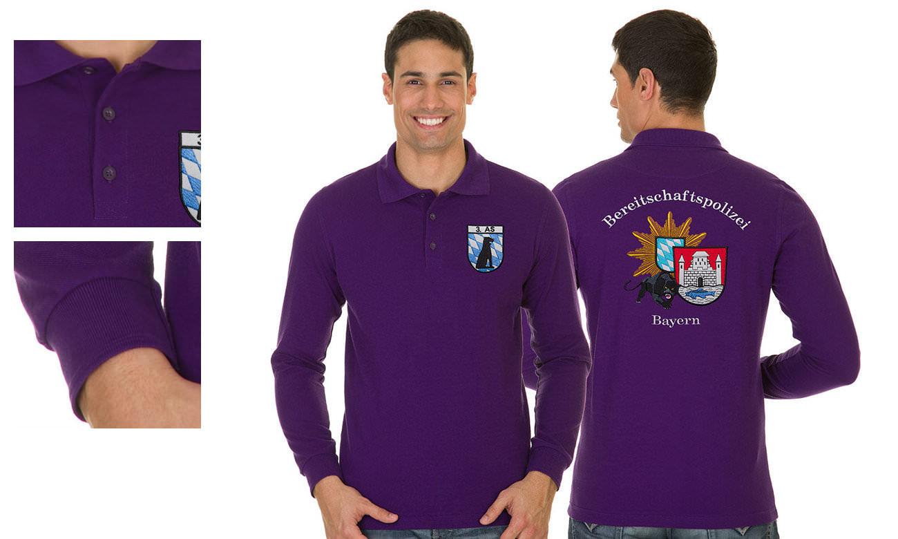 Poloshirts mit langen Ärmeln bedrucken   besticken - nach Vorgabe 9eb115bff8