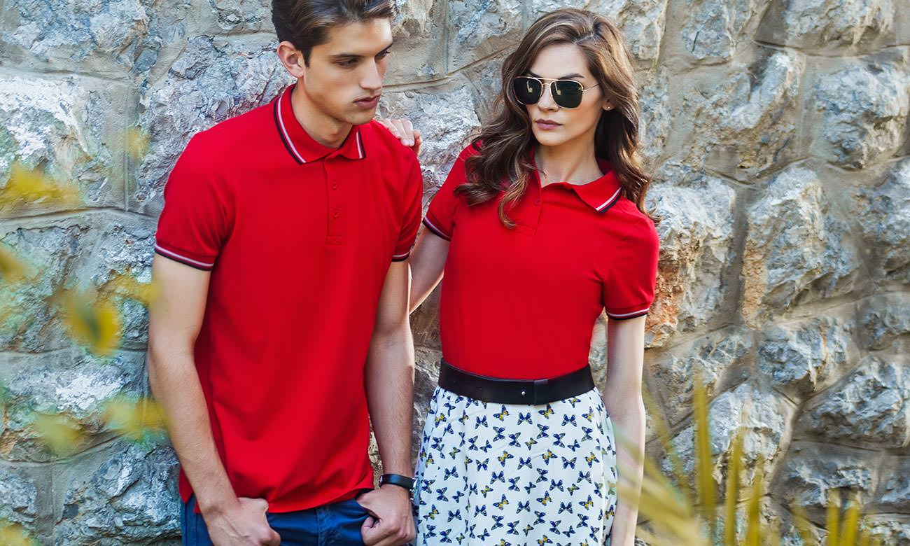 Poloshirts ST-207 Rot Fashion