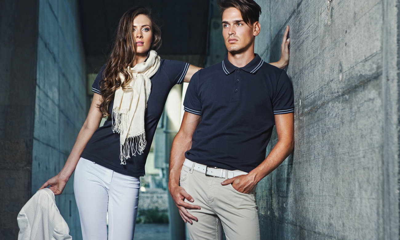 Poloshirts ST-208 Mousegray-Weiss Fashion