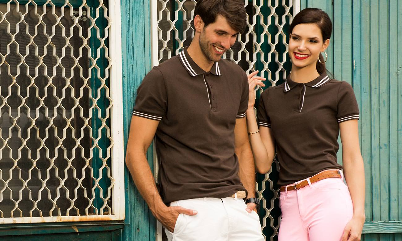 Poloshirts ST-209 Braun Fashion