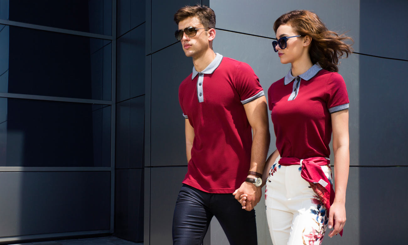 Poloshirts ST-255 Bordeaux Fashion