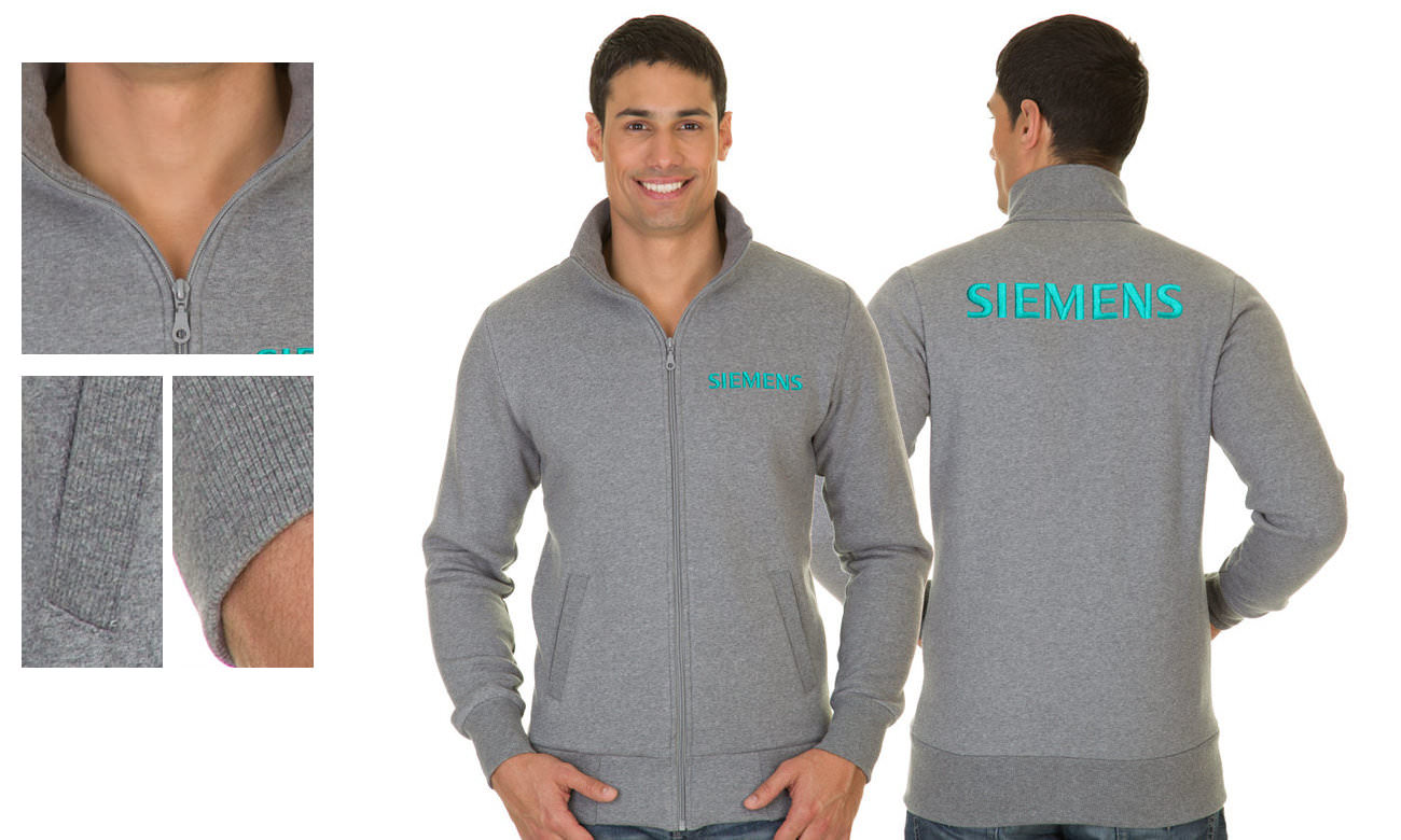 Sweat-Jacken ST-303 Anthrazit Herren