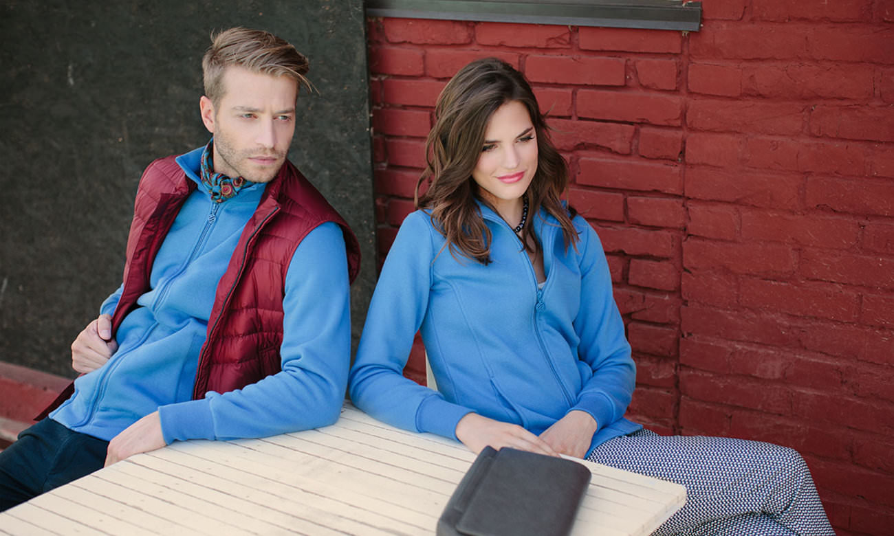 Sweat-Jacken ST-303 Azurblau Fashion