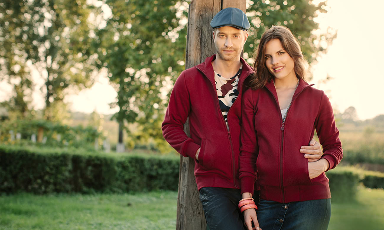 Sweat-Jacken ST-303 Bordeaux Fashion