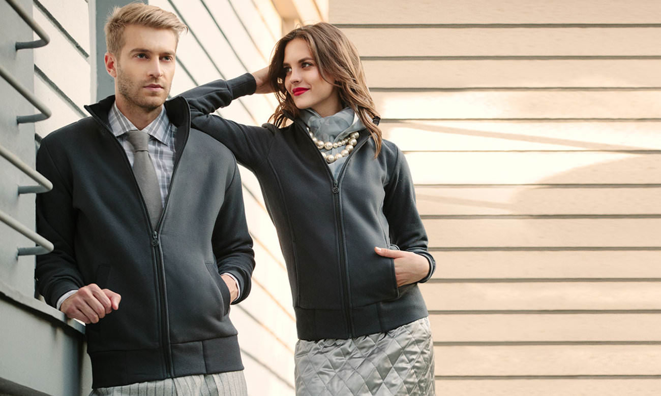 Sweat-Jacken ST-303 Mousegray Fashion