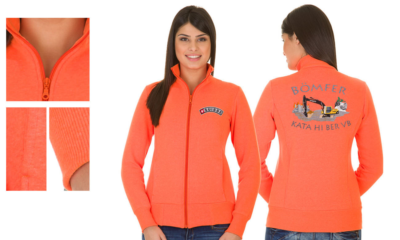 Sweat-Jacken ST-303 Neon Orange Damen
