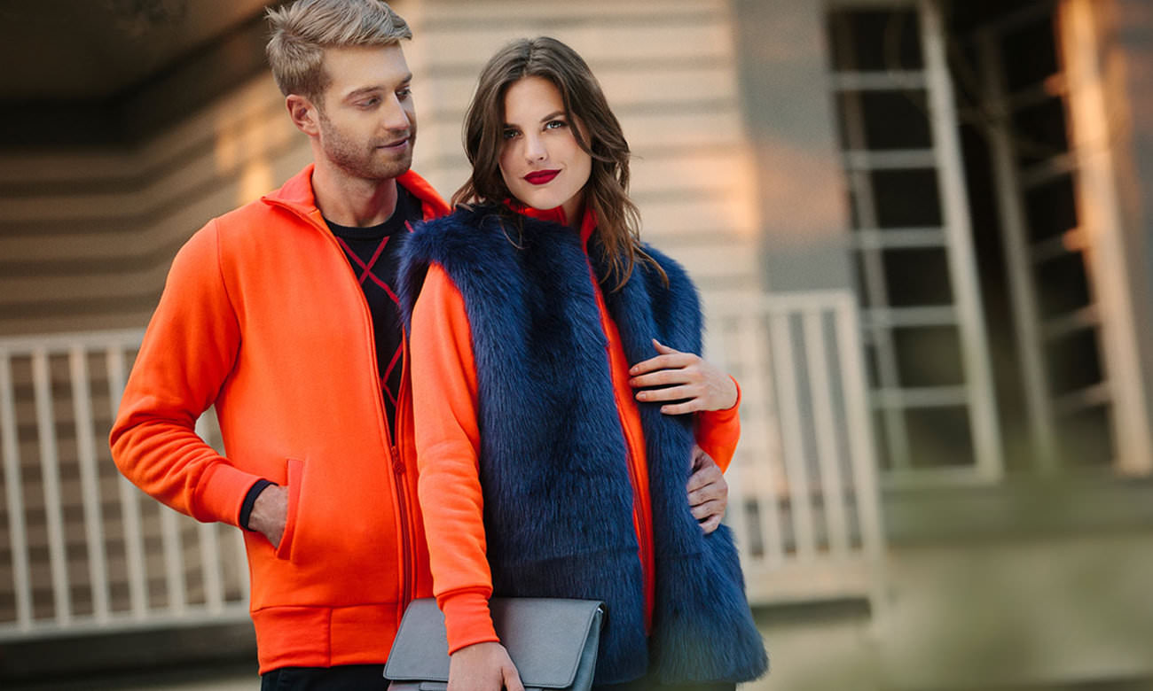 Sweat-Jacken ST-303 Neon Orange Fashion
