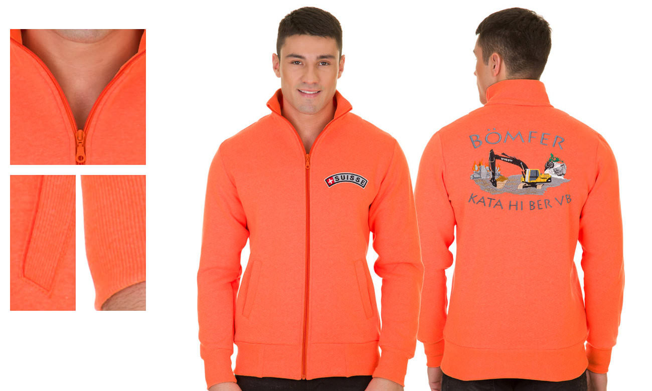 Sweat-Jacken ST-303 Neon Orange Herren