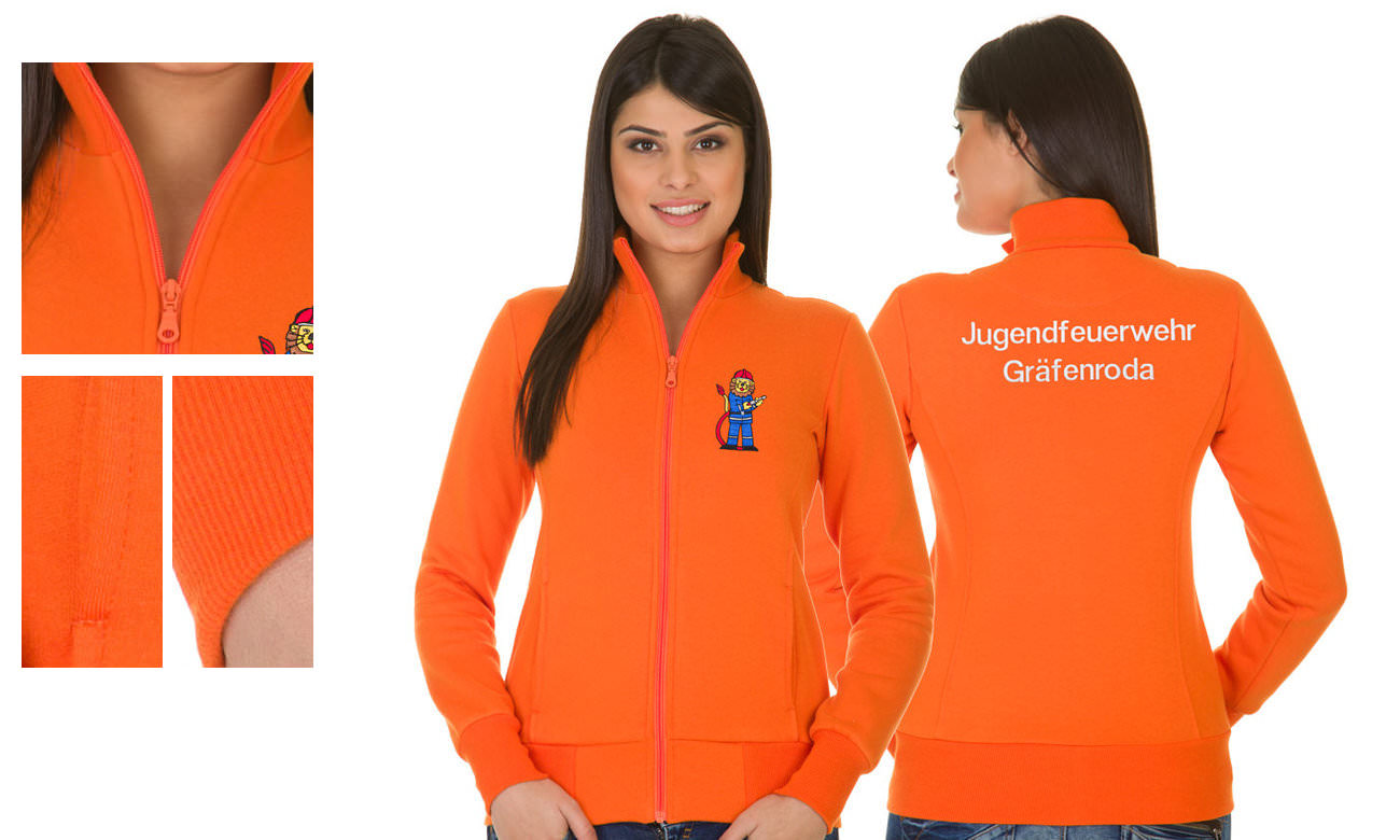 Sweat-Jacken ST-303 Orange Damen