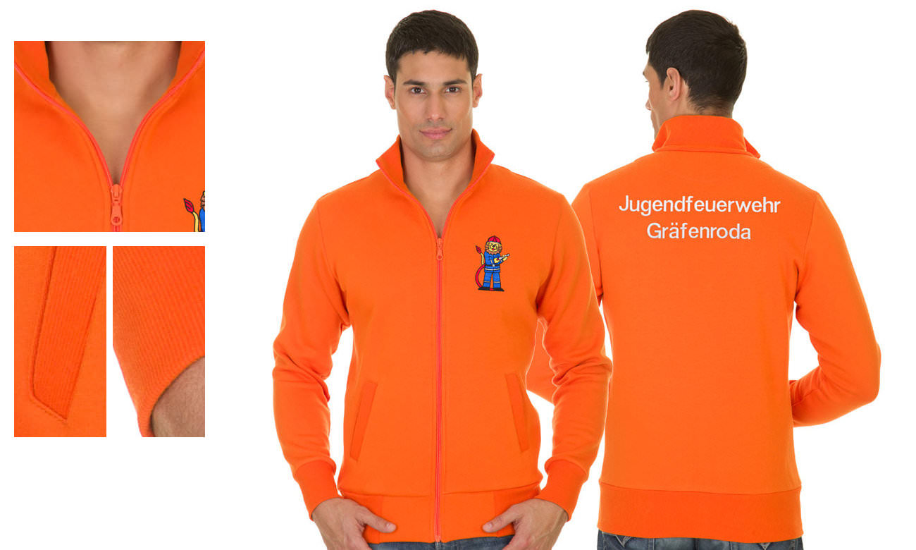 Sweat-Jacken ST-303 Orange Herren