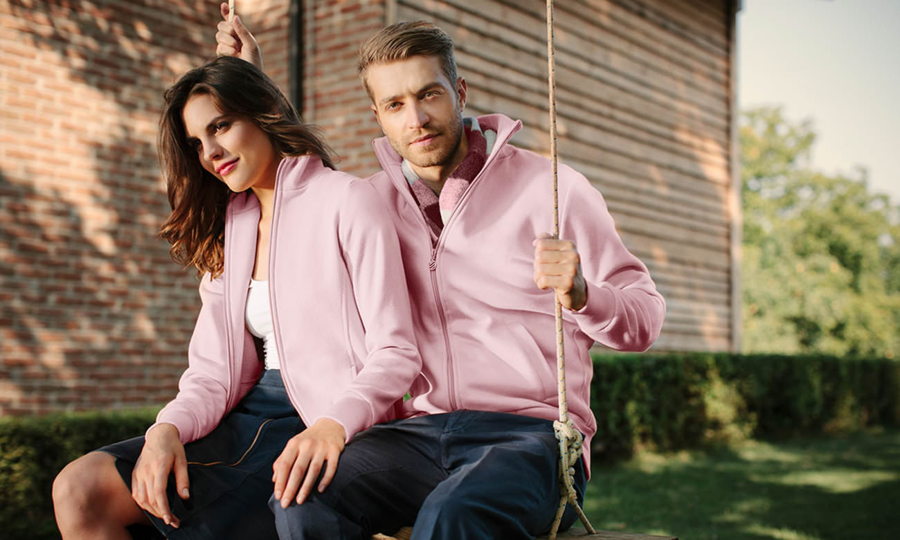 Sweat-Jacken ST-303 Rosa Fashion