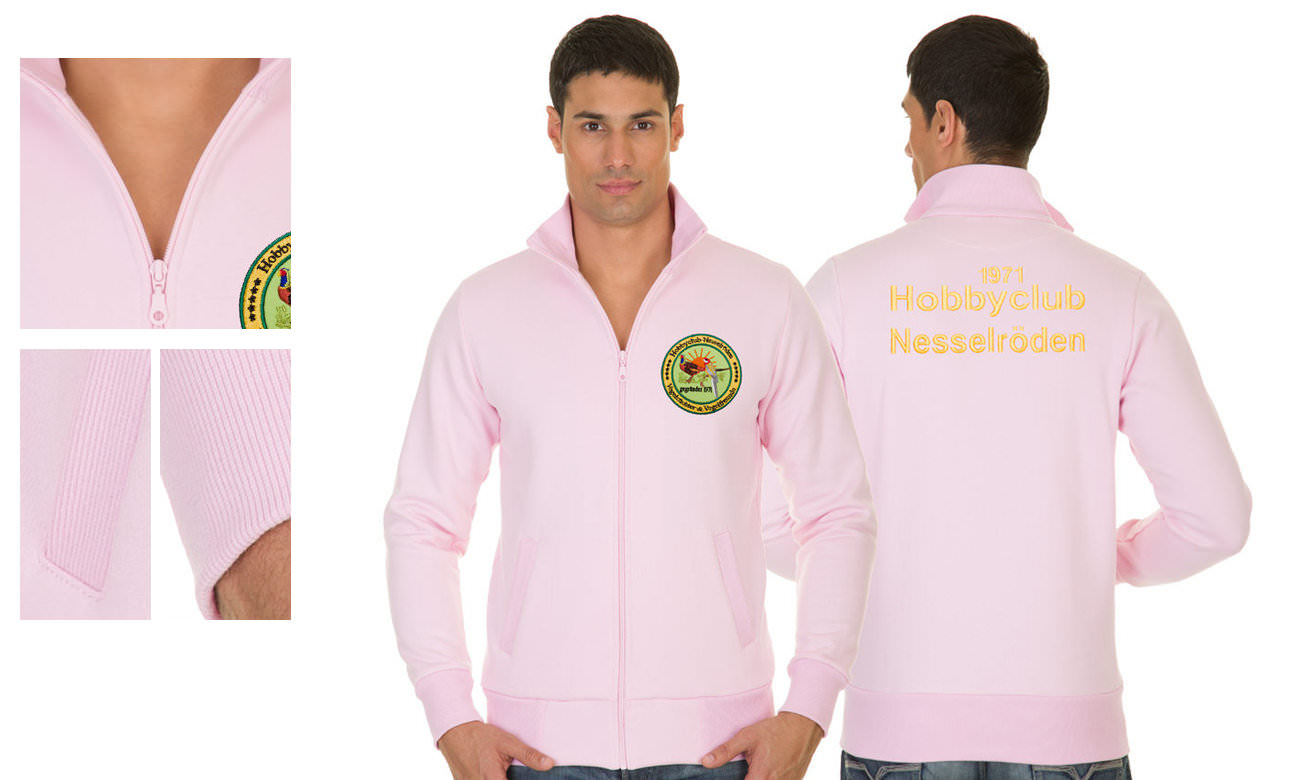 Sweat-Jacken ST-303 Rosa Herren