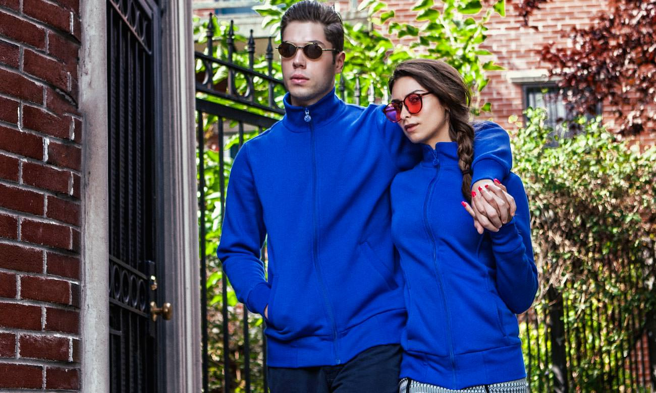 Sweat-Jacken ST-303 Royalblau Fashion