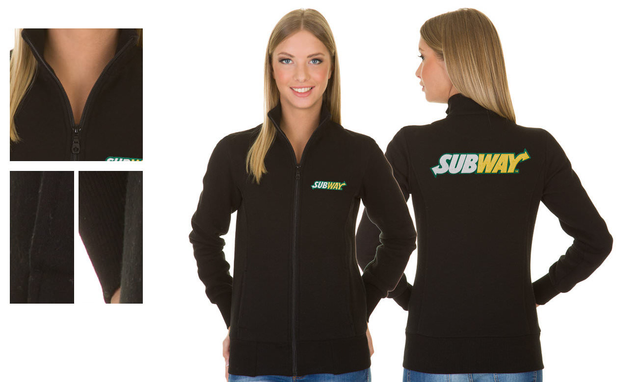 Sweat-Jacken ST-303 Schwarz Damen