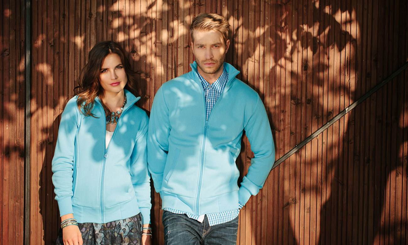 Sweat-Jacken ST-303 Türkis Fashion