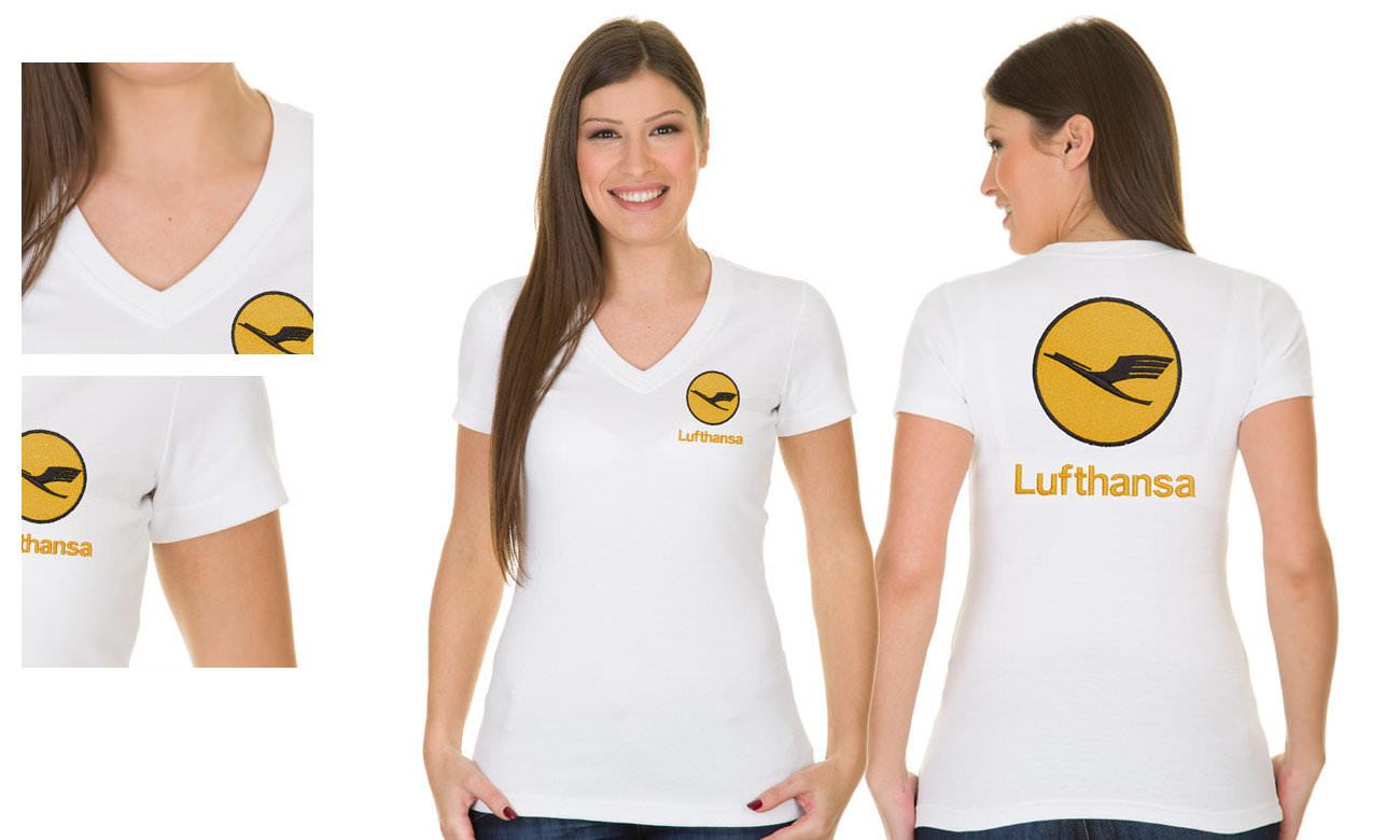 Standard T-Shirts mit V-Ausschnitt besticken - Antipilling Material